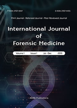 International Journal of Forensic Medicine Cover page